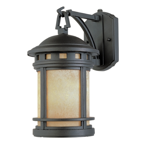Designers Fountain Lighting Outdoor Wall Light with Amber Glass in Oil Rubbed Bronze Finish ES2391-AM-ORB