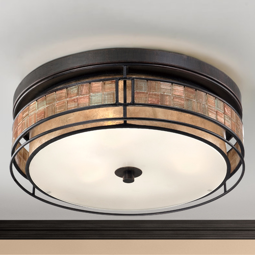 Quoizel Lighting Close To Ceiling Light in Renaissance Copper Finish MCLG1616RC