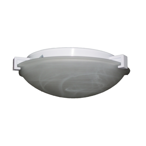 PLC Lighting Modern Flushmount Light with White Glass in Polished Brass Finish 7016 PB