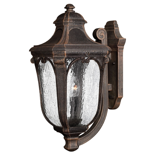 Hinkley Lighting Outdoor Wall Light with Clear Glass in Mocha Finish 1315MO-GU24