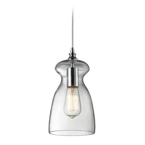 Elk Lighting Mini-Pendant Light with Clear Glass 60053-1