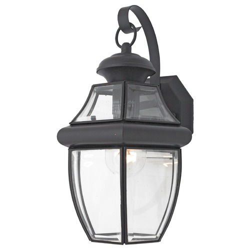 Quoizel Lighting Quoizel Newbury Mystic Black Outdoor Wall Light NY8316KFL