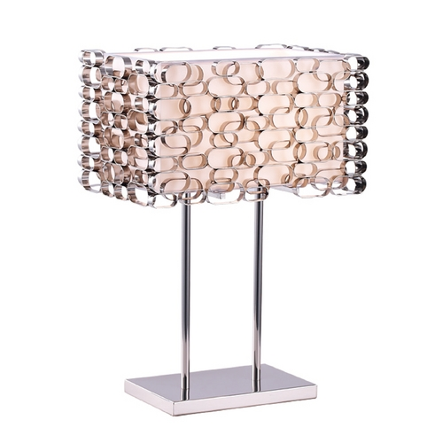 Avenue Lighting Avenue Lighting Ventura Blvd Polished Nickel Table Lamp with Rectangle Shade HF1706-PN