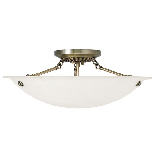 Livex Lighting Livex Lighting Oasis Antique Brass Semi-Flushmount Light 4274-01
