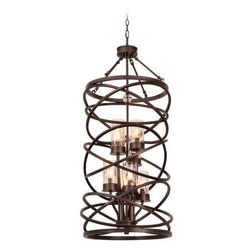 Kalco Lighting Kalco Lighting Eternity Etruscan Bronze Pendant Light with Cylindrical Shade 6608EZ
