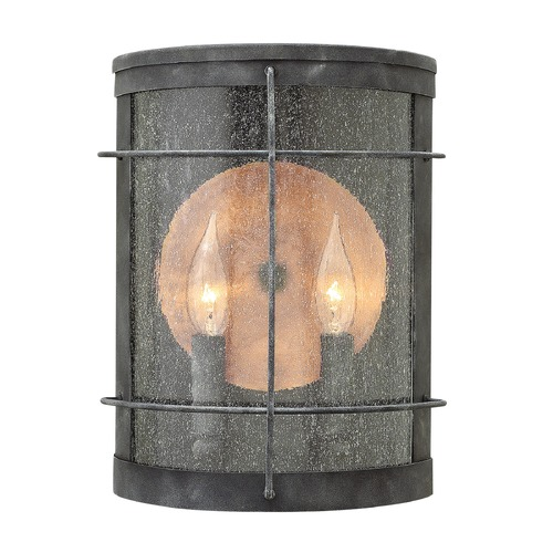 Hinkley Lighting Hinkley Lighting Newport Aged Zinc Outdoor Wall Light 2624DZ