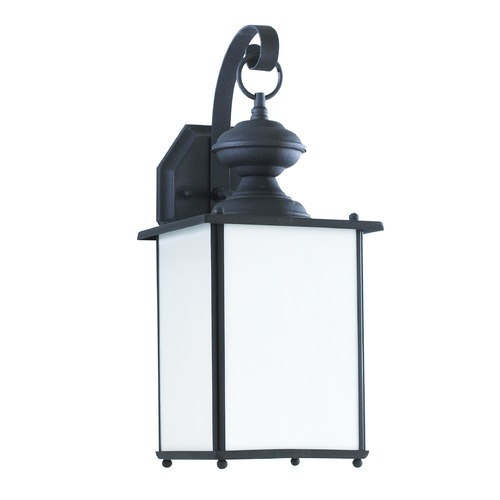 Sea Gull Lighting Sea Gull Lighting Jamestowne Black Outdoor Wall Light 84158D-12