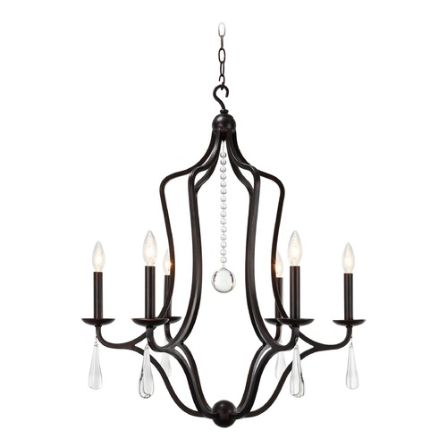 Crystorama Lighting Crystorama Lighting Manning English Bronze Crystal Chandelier 5976-EB