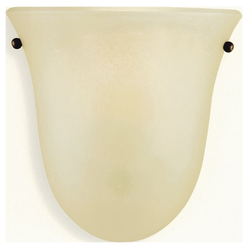 Home Solutions by Feiss Lighting Sconce Wall Light with Beige / Cream Glass in Corinthian Bronze Finish WB1270CB