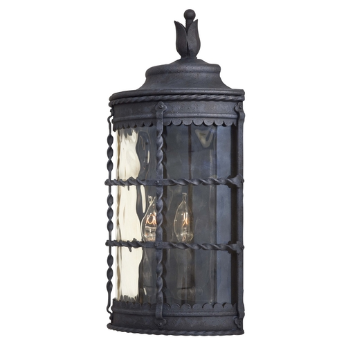 Minka Lavery Outdoor Wall Light with Clear Glass in Spanish Iron Finish 8887-A39