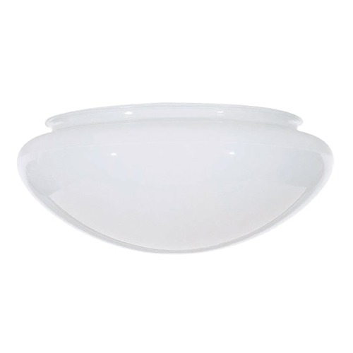 Satco Lighting 7.5-Inch White Bowl Glass Shade - 5-7/8-Inch Fitter Opening 50-329