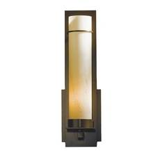 Hubbardton Forge Lighting Sconce Wall Light with Stone Glass in Dark Smoke Finish 204265F-07-H214
