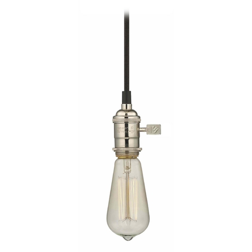 Design Classics Lighting Bare Bulb Socket Mini-Pendant Light with Carbon Filament - 60-Watts CA1-15 60ST58 FILAMENT