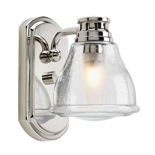 Progress Lighting Progress Sconce Wall Light with Clear Glass in Polished Chrome Finish P2810-15WB