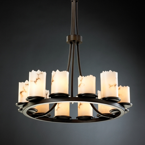 Justice Design Group Justice Design Group Lumenaria Collection Chandelier FAL-8763-12-DBRZ