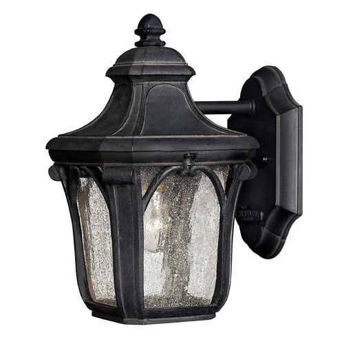 Hinkley Lighting Outdoor Wall Light with Clear Glass in Museum Black Finish 1316MB-GU24