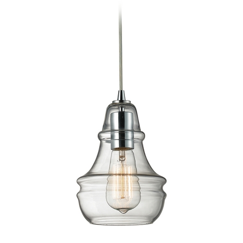 Elk Lighting Mini-Pendant Light with Clear Glass 60057-1