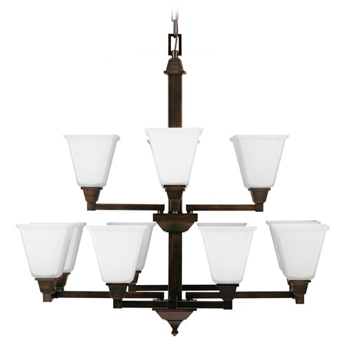 Sea Gull Lighting Sea Gull Lighting Denhelm Burnt Sienna Chandelier 3150412-710