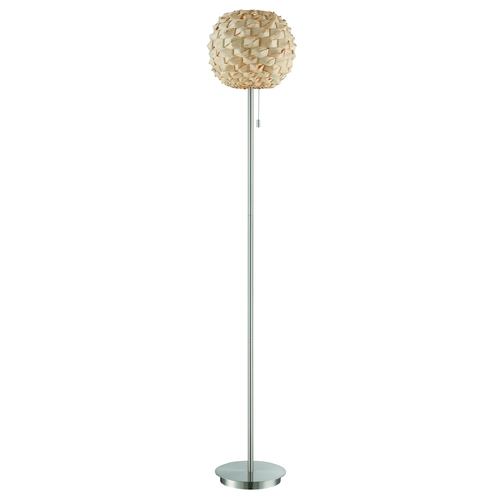 Lite Source Lighting Lite Source Lighting Linterna Polished Steel Floor Lamp with Globe Shade LS-82345