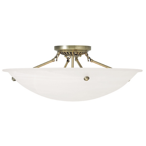 Livex Lighting Livex Lighting Oasis Antique Brass Semi-Flushmount Light 4275-01