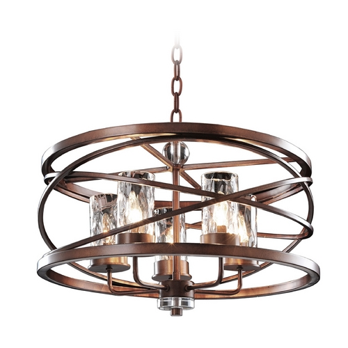 Kalco Lighting Kalco Lighting Eternity Etruscan Bronze Pendant Light with Cylindrical Shade 6609EZ
