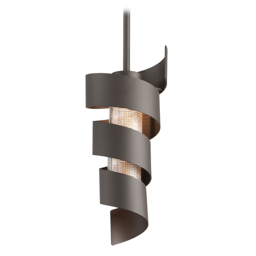 Troy Lighting Troy Lighting Vortex Bronze with Painted LED Mini-Pendant Light F4263