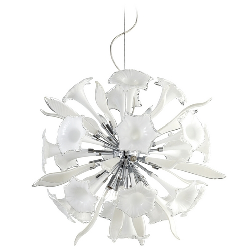 Cyan Design Cyan Design Remy White & Clear Pendant Light 05780
