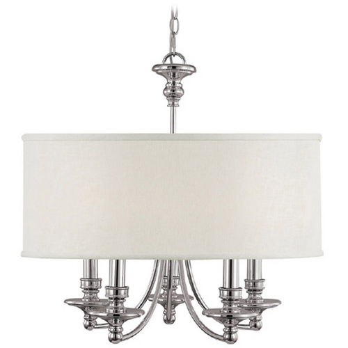 Capital Lighting Capital Lighting Polished Nickel Chandelier 3915PN-455