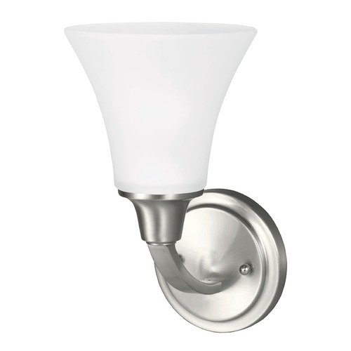 Sea Gull Lighting Sea Gull Lighting Metcalf Brushed Nickel Sconce 4113201-962