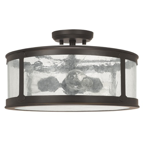 Capital Lighting Capital Lighting Dylan Old Bronze Close To Ceiling Light 9567OB