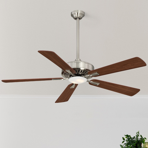 Minka Aire 52-Inch Minka Aire Contractor Plus LED Brushed Nickel LED Ceiling Fan with Light F556L-BN/DW