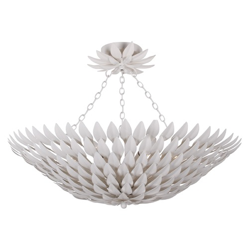 Crystorama Lighting Crystorama Lighting Broche Matte White Semi-Flushmount Light 517-MT_CEILING