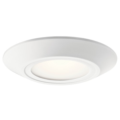 Kichler Lighting Transitional LED Flushmount Light White Horizon II by Kichler Lighting 43870WHLED27B