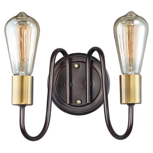 Maxim Lighting Maxim Lighting Haven Oil Rubbed Bronze / Antique Brass Sconce 11739OIAB
