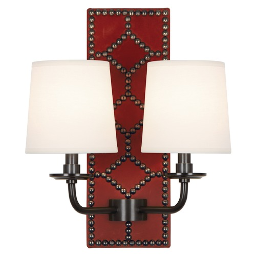 Robert Abbey Lighting Robert Abbey Lighting Williamsburg Lightfoot Wall Sconce with Fondine Fabric Shades Z1031