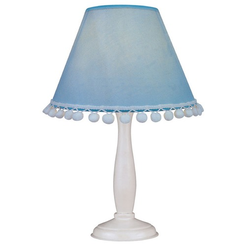 Lite Source Lighting Lite Source Lighting Pompom White Accent Lamp IK-6098L/BLU