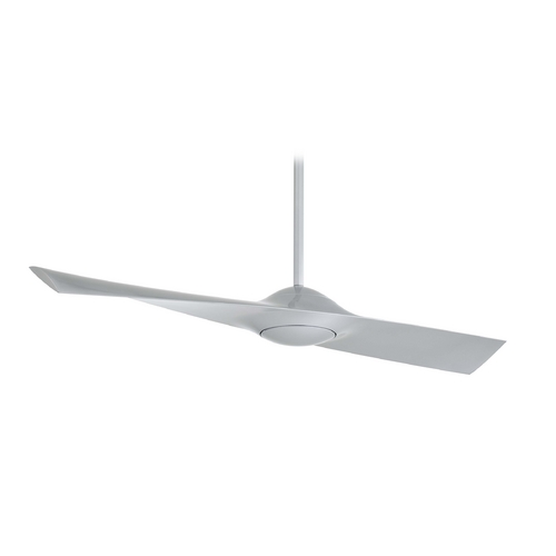 Minka Aire 52-Inch Minka Aire Wing Silver Ceiling Fan Without Light F823-SL