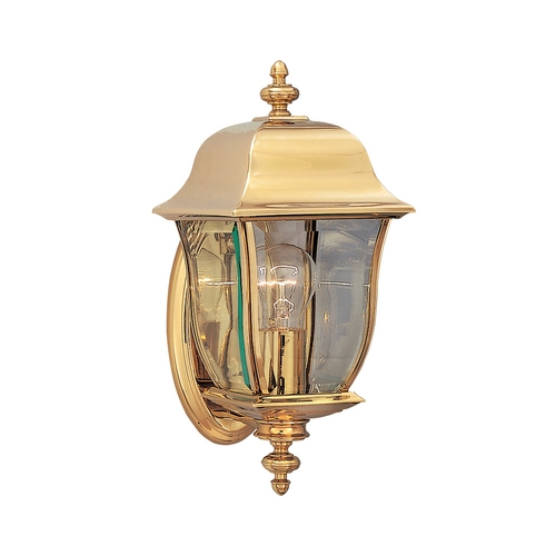Designers Fountain Lighting Outdoor Wall Light with Clear Glass in Polished Brass Finish 1532-PVD-PB