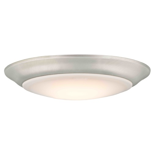 Design Classics Lighting Convertible LED Low Profile Flush Mount Ceiling Light - Satin Nickel DFR615-927-09   2700K 90CRI 850LM