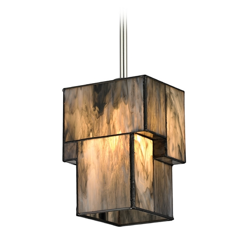 Elk Lighting Modern Mini-Pendant Light with Brown Glass 72072-1