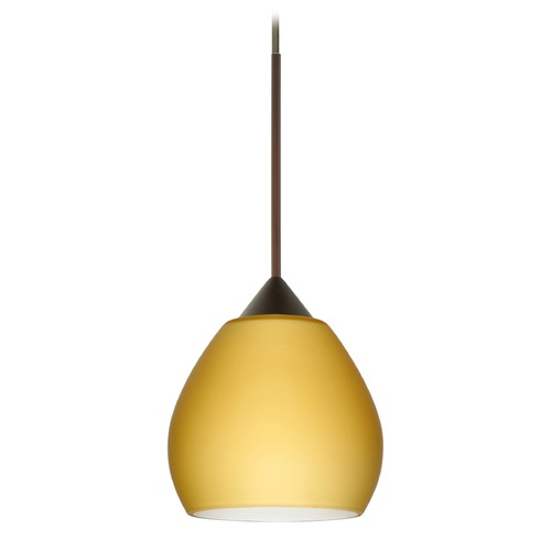 Besa Lighting Besa Lighting Tay Bronze LED Mini-Pendant Light with Bell Shade 1XT-5605VM-LED-BR