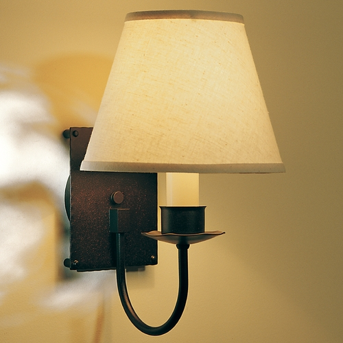 Hubbardton Forge Lighting Hubbardton Forge Lighting Simple Lines Mahogany Sconce 203101-03-CTO