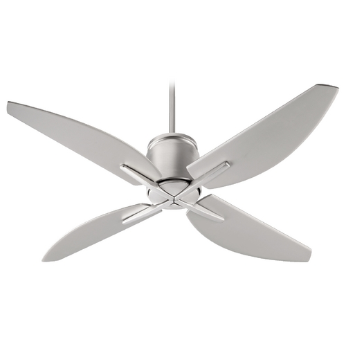 Quorum Lighting Quorum Lighting Kai Satin Nickel Ceiling Fan Without Light 50524-65