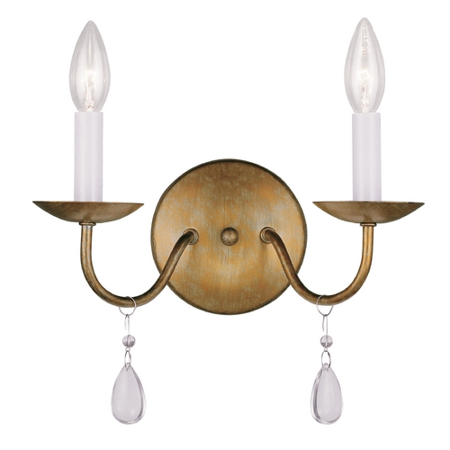 Livex Lighting Livex Lighting Mercer Antique Gold Leaf Sconce 4842-48