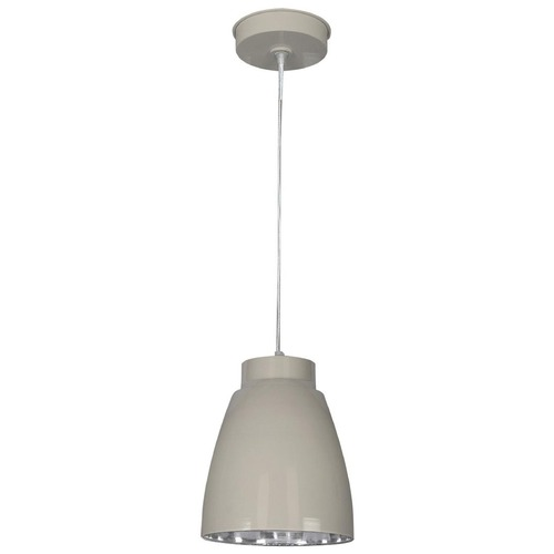 Kenroy Home Lighting Kenroy Home Lighting Silo Taupe and Nickel Mini-Pendant Light 92078TPNIK