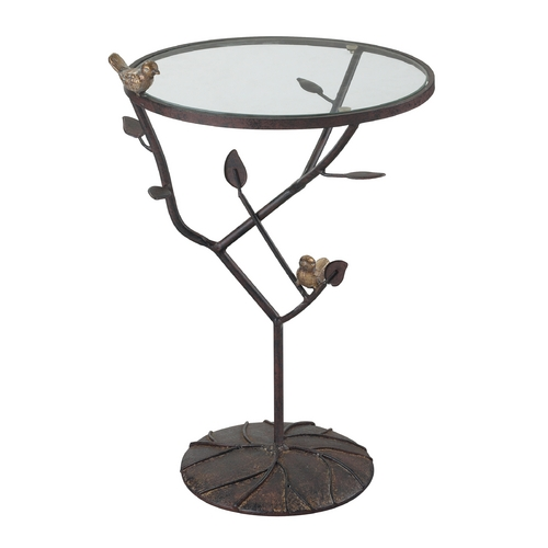 Sterling Lighting Sterling Lighting Bronze with Red Accent Table 138-054
