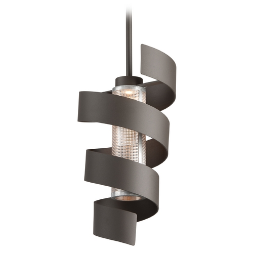Troy Lighting Troy Lighting Vortex Bronze with Painted LED Pendant Light F4264