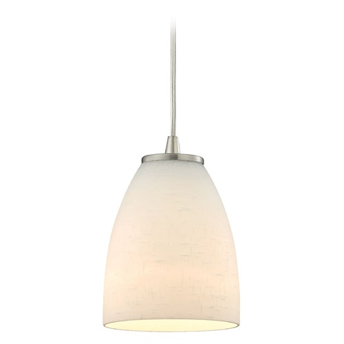 Elk Lighting Elk Lighting Sandstorm Satin Nickel Mini-Pendant Light with Bowl / Dome Shade 10466/1