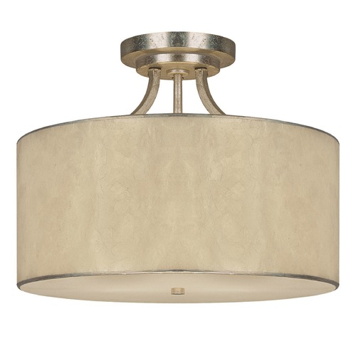 Capital Lighting Capital Lighting Luna Winter Gold Semi-Flushmount Light 3933WG-476