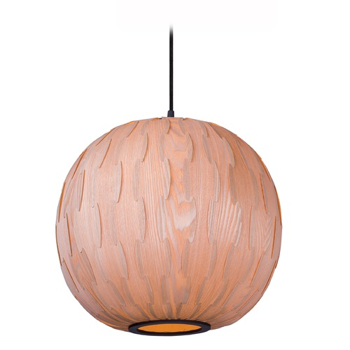 Maxim Lighting Maxim Lighting Norwood Black Pendant Light with Globe Shade 12405UDBK